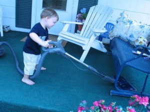 Vacuuming the Porch -- Everyday Homemaking