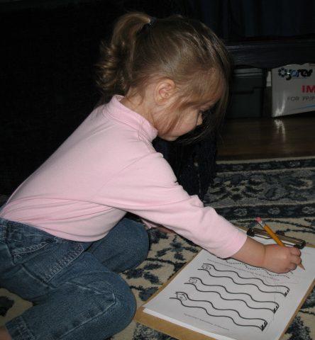 handwriting practice -- Everyday Homemaking