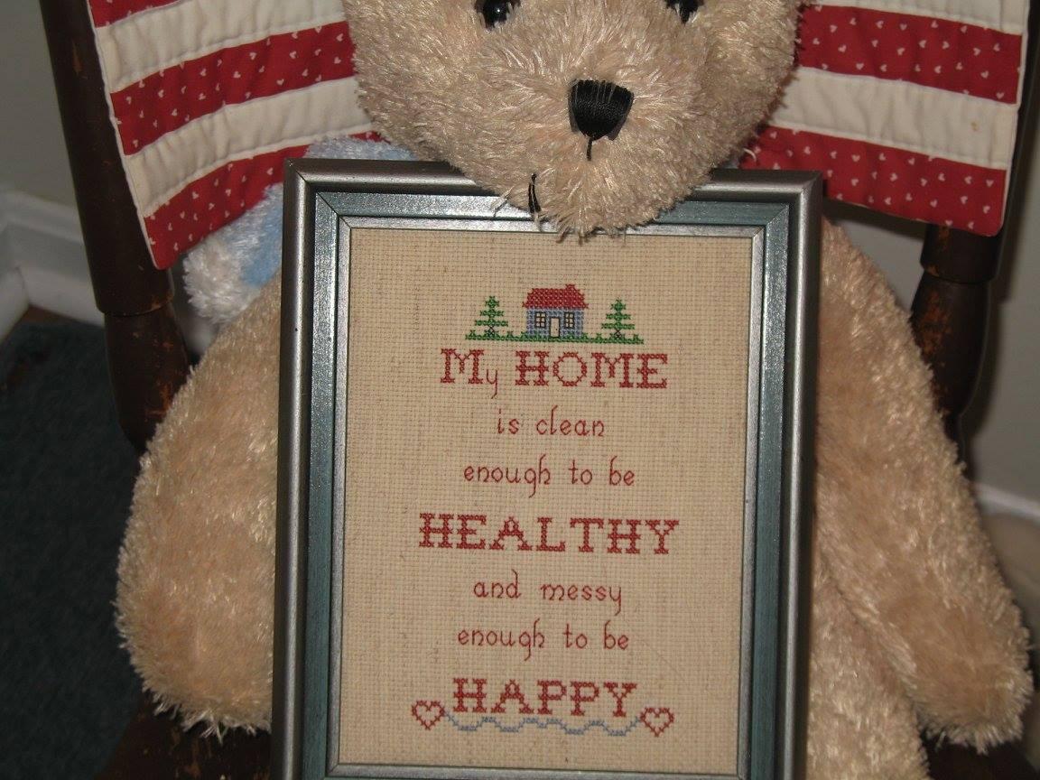 bear with cross stitch