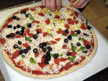 Homemade Pizza (step 6) -- Everyday Homemaking