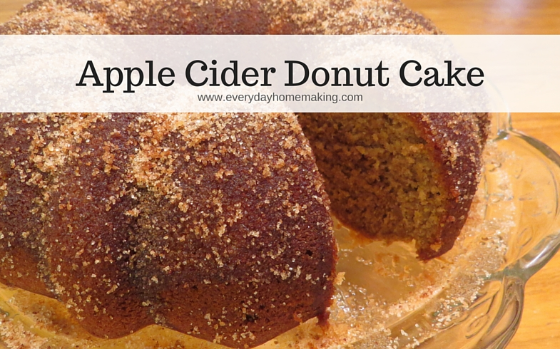 autumn apple cider donut cake | www.everydayhomemaking.com