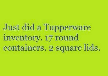 Mismatched Tupperware Meme -- Organizing at Everyday Homemaking