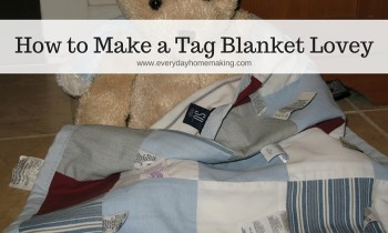 Make a Tag Blanket Lovey