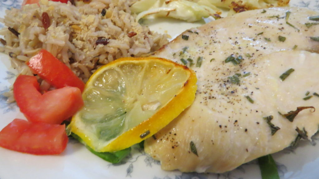 Rosemary-Lemon Chicken with Roasted Cauliflower