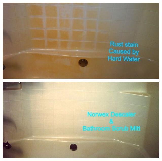 before and after rust stains in tub – Copy