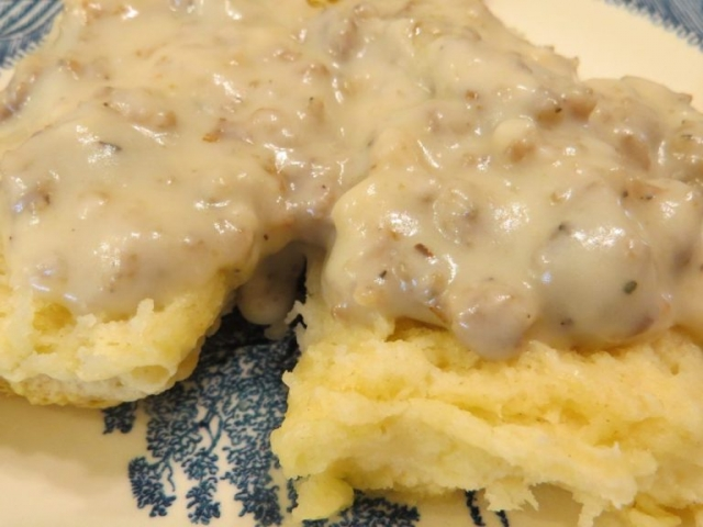 biscuits and gravy