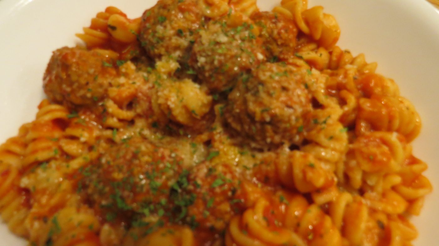 Mini meatballs and rotini - Pressure Cooker