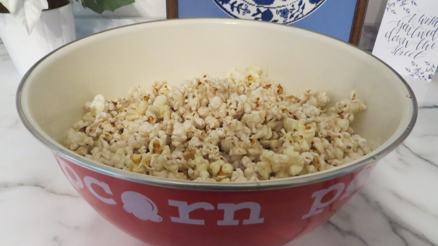 Popcorn - salted and buttered in the original pan