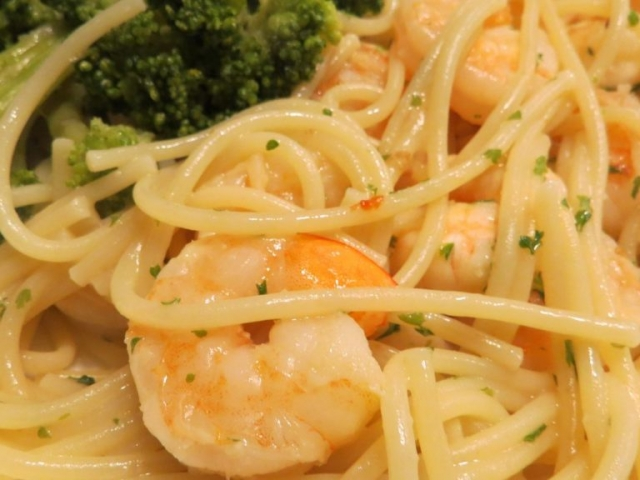 scampi and pasta