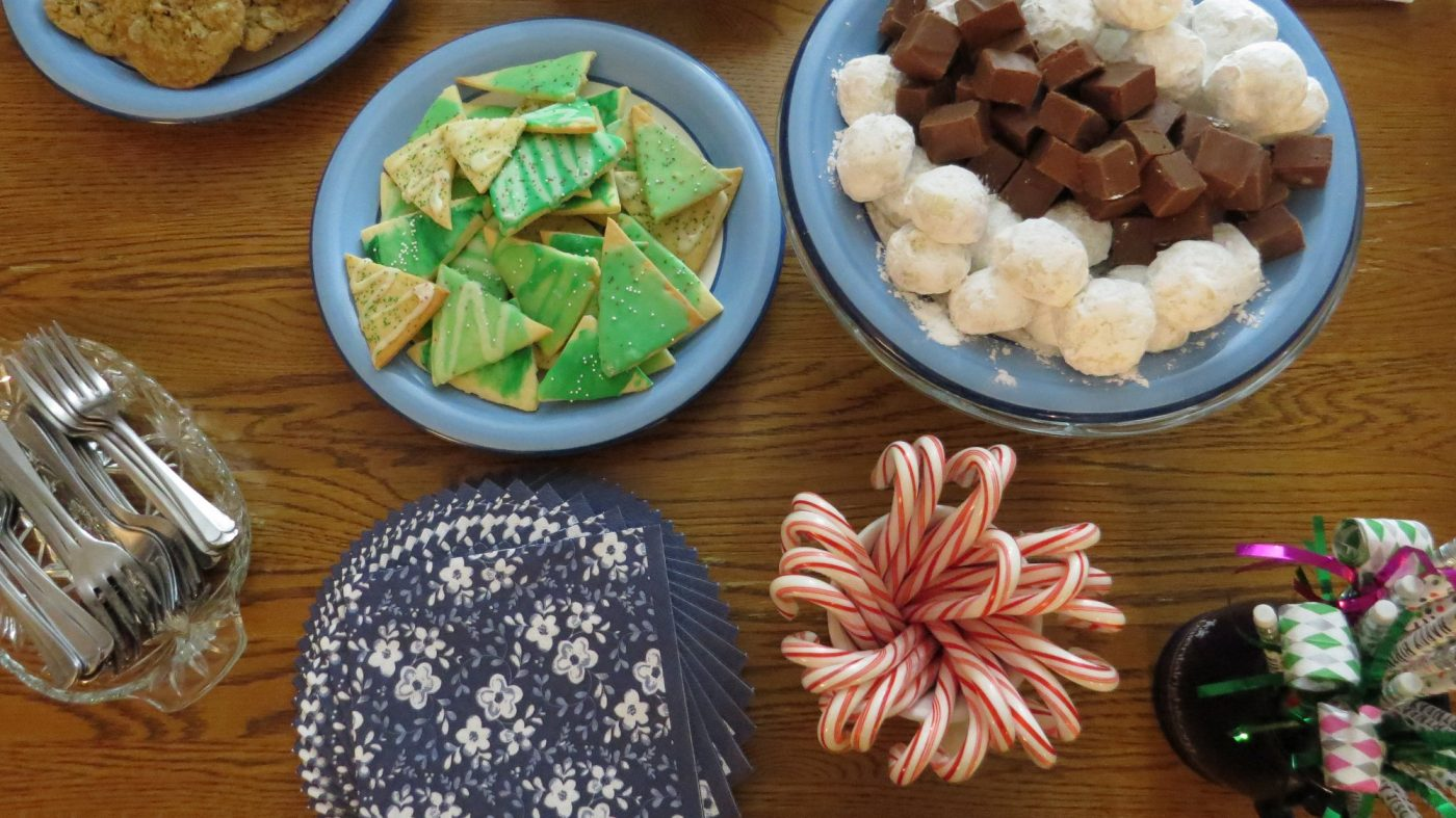 holiday cookie buffet