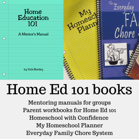 Home Education 101 series including mentoring program, planner, and chore system