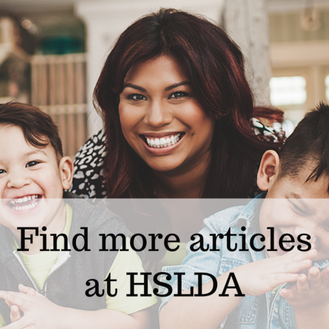 More articles at HSLDA by Vicki Bentley